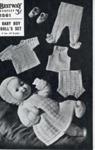 Knitting pattern: Baby Boy Doll's Set; Bestway Leaflet No. 1561; GWL-2016-95-107