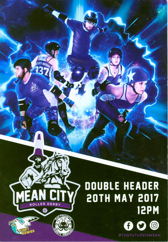 Programme cover for Mean City Double Header featuring Fight Hawks vs Scurvy Wenches