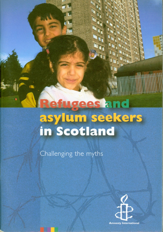 Front cover of booklet titled 'Refugees and Asylum Seekers in Scotland: Challenging the Myths'