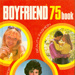 Front cover of Boyfriend 75, featuring three photos of young men and women surrounded by the words Beauty, Fashion, Romance, Pop: everything for teenage girls