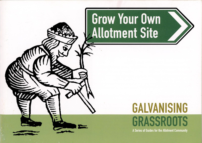 Booklet cover: Grow Your Own Allotment Site; SAGS; GWL-2020-48-6