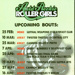 Back cover of programme for Auld Reekie Roller Girls featuring a fixture list