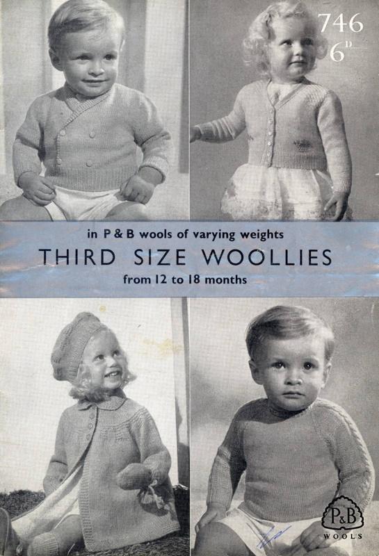 Knitting pattern: Third Size Woollies; P&B Wools No. 746; GWL-2015-34-39