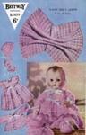 Knitting pattern: Doll's Layette; Bestway Knitwear B2499; GWL-2016-95-108