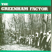 Front cover of The Greenham Factor foldout publication featuring a photograph of Greenham Common Peace Camp