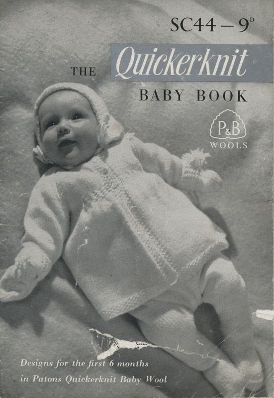 Knitting pattern: The Quickerknit Baby Book; P&B Wools SC44; GWL-2016-95-78