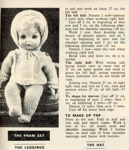 Knitting pattern for doll's pram set and outfit; Unknown; GWL-2016-95-123