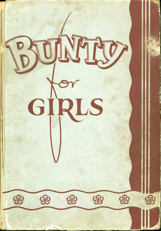 Front cover of Bunty for Girls, with missing flysheet.