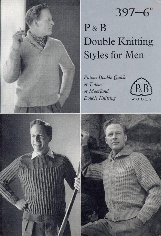 Knitting pattern: Double Knitting Styles for Men; P&B Wools No. 397; GWL-2015-34-33