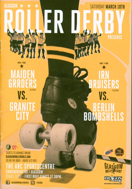 Programme cover for Glasgow Roller Derby double header