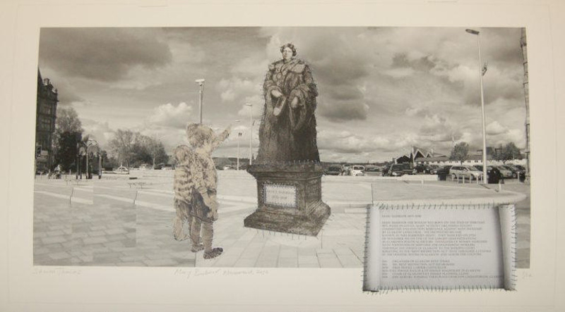 Print titled 'Mary Barbour Monument' by Sharon Thomas