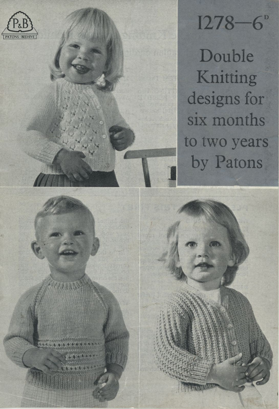 Knitting pattern: Double Knitting Styles for Children; P&B Booklet 1278; GWL-2016-95-77