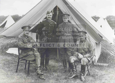 Photograph of the Spencer-Churchill family in Yeomanry uniform c. early 1900's; OXFYT:136