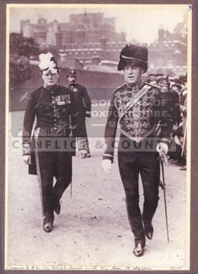 OXFYT:2143 Photograph of Winston Churchill and Hugh Lygon; 1910; OXFYT:2143