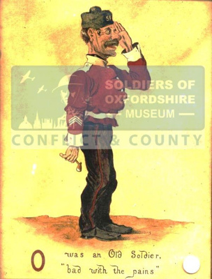 Caricature depicting an aged soldier in the 19th Century; Unknown; 19th Century; OBLI:5155
