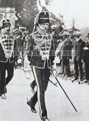 OXFYT:2253 Photograph of Winston Churchill in the Queen's Own Oxfordshire Hussars dress uniform. ; OXFYT:2253