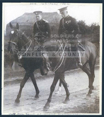 OXFYT:2145 Photograph of Winston Churchill and General John French at Salisbury Plain, 1910.; 1910; OXFYT:2145