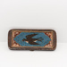 Beaded leather and steel case; C1870; SC0088