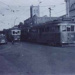 Electric tramcar nos. 50, 51 and another, in Bay Road, Sandringham; 1955 Oct.; P1050