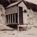 Bathing boxes on Hampton Beach.; 1947; P1401