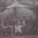 The Schmidt family camping on the Triangle, Hampton; c. 1900; P1449