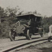 Bad for the tyres. Tram rails buckled with the heat - Beaumaris road.; c. 1910; P0857