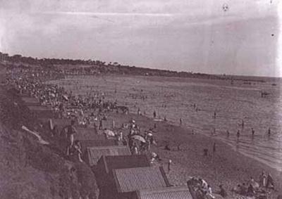 Hampton beach looking south; c. 1930; P2500