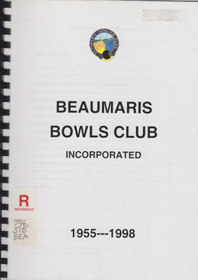 Beaumaris Bowls Club Incorporated, 1955-1998.; 1998; B0673