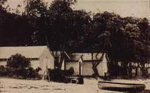 Bathing boxes at Beaumaris, probably opposite Reserve Road; c.1923; P2133