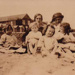 Cowmeadow family on Sandringham Beach; c. 1950; P0096