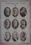 Sandringham's first council, elected 12th April, 1917; 1917; P1800