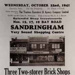 Advertising leaflet for auction sale of three shops in Bay Road, Sandringham.; 1941; P1809