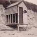 Bathing box, Hampton beach; c. 1948; P2504