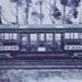 Electric tramcar no. 42 in original colours; c. 1920; P1109