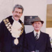 The Mayor and Mr Jesson at the unveiling of plaque on Rotunda.; 2003?; `P4762