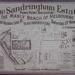 Advertisement for sale of Sandringham Estate.; 1886 Nov. 27; P1437