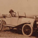 Bessie Dentry in Barney's car; c 1924; P0227