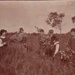Gathering bunches of wild heath at Black Rock; 1925; P2867