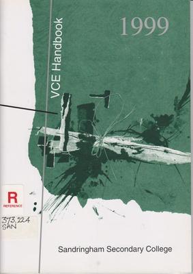 Handbooks, prospectuses and yearbooks; Sandringham Secondary College; 1998-1999; B0676